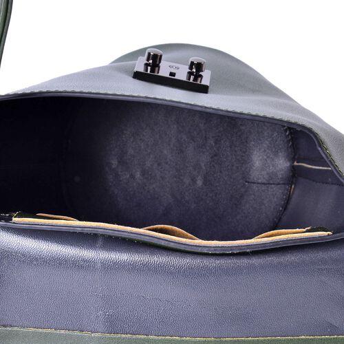 Green Colour Crossbody Bag with Adjustable Shoulder Strap (Size 24.5x24x16x16 cm)