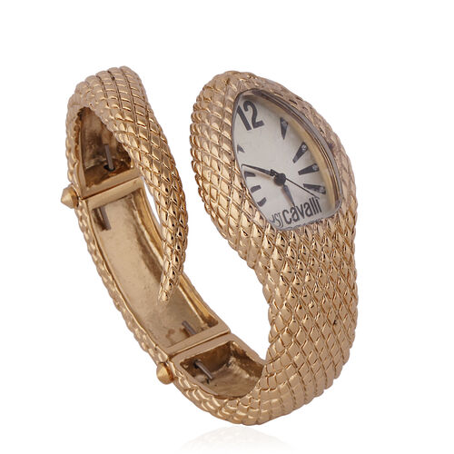 Close Out Deal- JUST CAVALLI: Swiss Movement Dial Watch - Gold