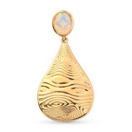 Ethiopian Opal  Fancy Pendant in 14K Gold Overlay Sterling Silver 0.75 ct  0.750  Ct.