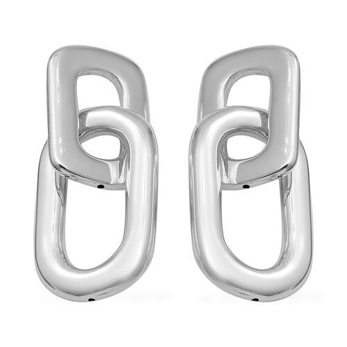Drop Link Earrings in Sterling Silver