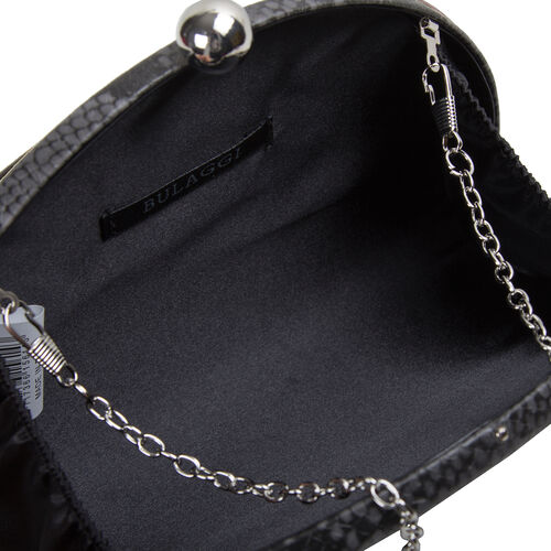 Bulaggi Collection Quince Grey and Black Snake-Skin Pattern Clutch Bag