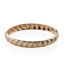 Super Auction-Royal Bali Collection 9K Yellow Gold Diamond Cut Bangle (Size 7), Gold wt 5.20 Gms.