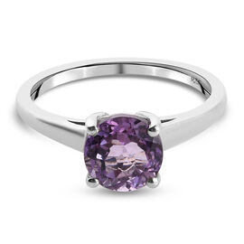Pink Amethyst Ring in Platinum Overlay Sterling Silver 1.00 ct  1.000  Ct.