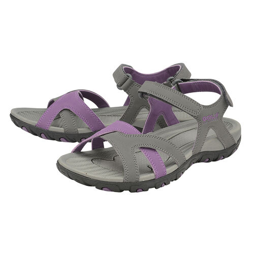 Gola Cedar Walking Sandal (Size 6) - Grey/Purple