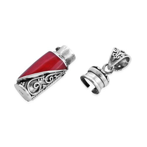 Royal Bali Collection - Coral Love Potion Pendant in Sterling Silver, Silver wt 8.55 Gms
