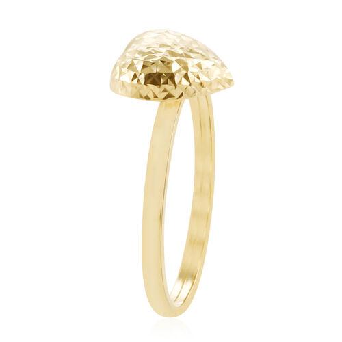 Royal Bali Collection 9K Yellow Gold Heart Ring