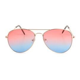 Aviator Sunglasses - Blue and Pink