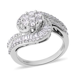 14K White Gold Diamond Ring 0.77 Ct,  Gold wt. 5.67 Gms