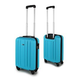 Close Out Deal- 21 Inch Carry On Luggage Lightweight ABS Shell 4 Wheel Spinner Suitcase - Blue