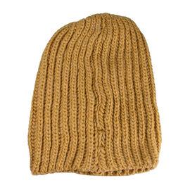 FIORUCCI Dark Mustard Knitted Hat (Size 30x22cm)