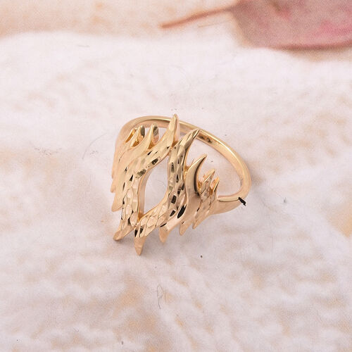 LucyQ Flame Collection Winning Ring in Yellow Gold Plated Sterling Silver