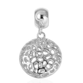 RACHEL GALLEY Rhodium Plated Sterling Silver Disc Pendant