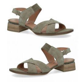 CAPRICE Women Open Toe Heel Sandal  Cactus Suede