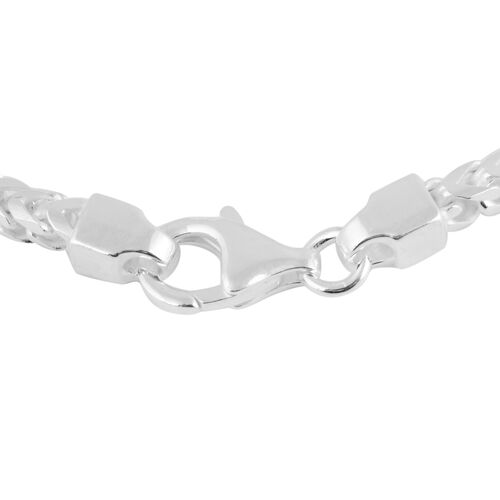 Made in Italy - Sterling Silver Franco Bracelet (Size 7.5), Silver wt 10.16 Gms