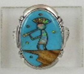 Santa Fe Collection - Multi Gemstones Ring in Sterling Silver 4.50 Ct.