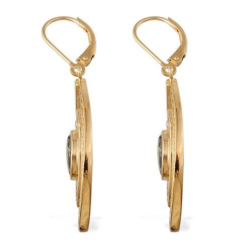Goldenite (Ovl) Lever Back Earrings in 14K Gold Overlay Sterling Silver 2.000 Ct.