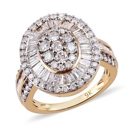9K Y Gold SGL Certified Diamond (I3/G-H) Ring 2.00 Ct, Gold wt. 4.13 Gms