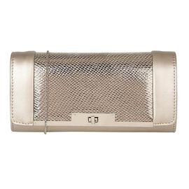 Lotus Snake Print Zonda Occasion Clutch Bag with Detachable Shoulder Chain Strap (Size 26x13x5 Cm) -