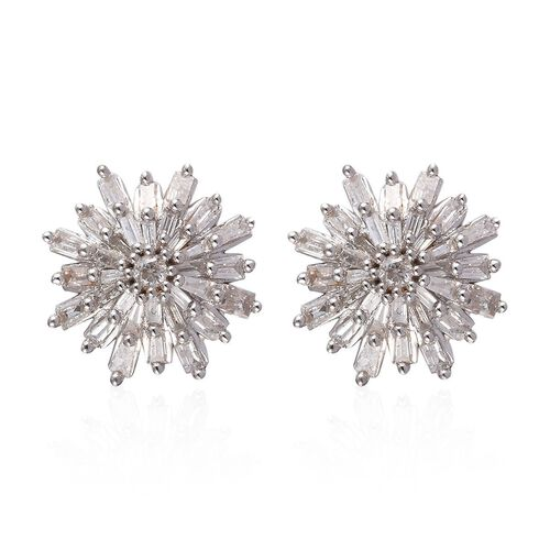 9K Yellow Gold SGL Certified Diamond (I3/G-H) Snowflake Stud Earrings (with Push Back) 0.50 Ct.