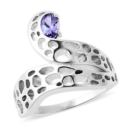 RACHEL GALLEY Tanzanite Misto Ring in Rhodium Plated Sterling Silver