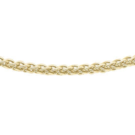 9K Yellow Gold Spiga Chain (Size 22), Gold wt 2.90 Gms