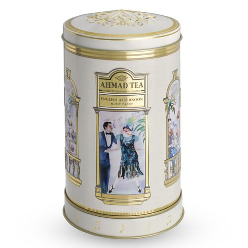 AHMAD TEA English AfternoonTea with Musical Tea Caddy.100 Gms of Loose Tea