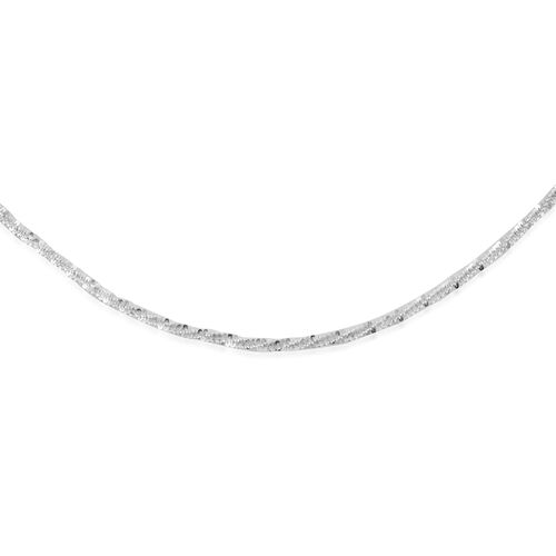 Made in Italy - Sterling Silver Rock Chain (Size 18)
