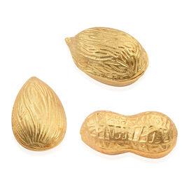 Home Decor - Set of 3 Golden Almond (Size 10.7x6.9x6.35 Cm), Peanut (10.7x5x5 Cm) and Walnut (Size 10.7x6.9x6.35 Cm)
