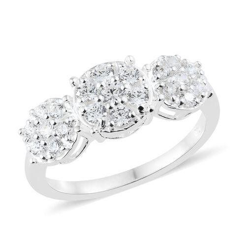 J Francis- Sterling Silver (Rnd) Ring Made with SWAROVSKI ZIRCONIA