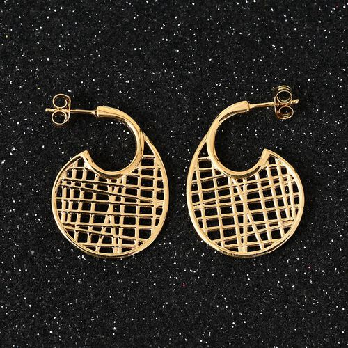 Sundays Child - 14K Gold Overlay Sterling Silver Earrings (with Push Back)