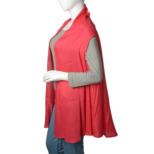 Red Coral Colour Round Vest (Free Size)