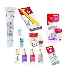 Mavala: Nail Care Purse (Incl.Hand Cream - 30ml, Mava-Strong - 5ml, Oil Seal Dryer, Coral Bay, Velve