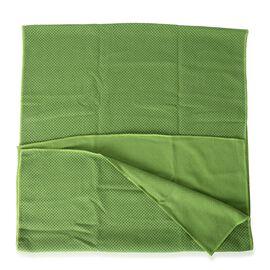 Green Yoga mat Towel with Anti Slip Mechanism