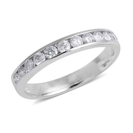 0.50 Carat Diamond Half Eternity Ring in 14K White Gold 2.34 Grams I3 GH
