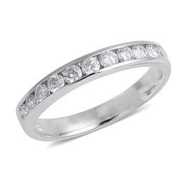 0.50 Carat Diamond Half Eternity Ring in 14K White Gold 2.34 Grams I3 GH