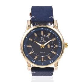 STRADA Japanese Movement Water Resistant Watch with Navi Blue Strap