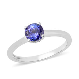 ILIANA 1 Carat Tanzanite Solitaire Ring in 18K White Gold 3.40 Grams