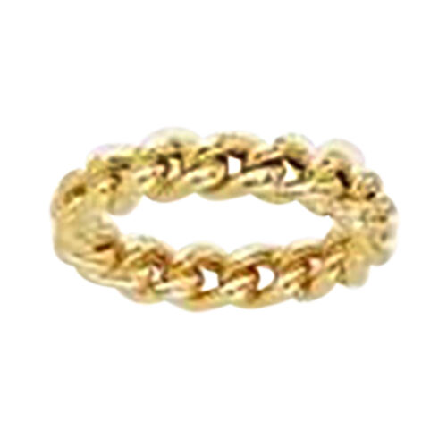 Vicenza Curb Ring in 9K Yellow Gold