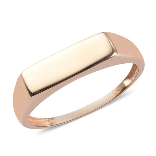 9K Yellow Gold Signet Ring, Gold wt 2.08 Gms