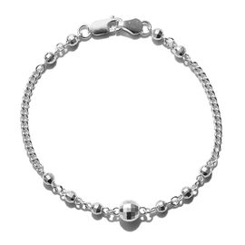 One Time Deal- Sterling Silver Bracelet (Size 7.5) Silver Wt 4.48 Grams