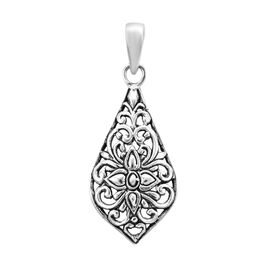 Royal Bali Collection - Sterling Silver Floral Pendant