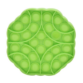 Push Bubble Stress Relieving Octagonal Fidget for Adults/Children in Green (12x12cm)