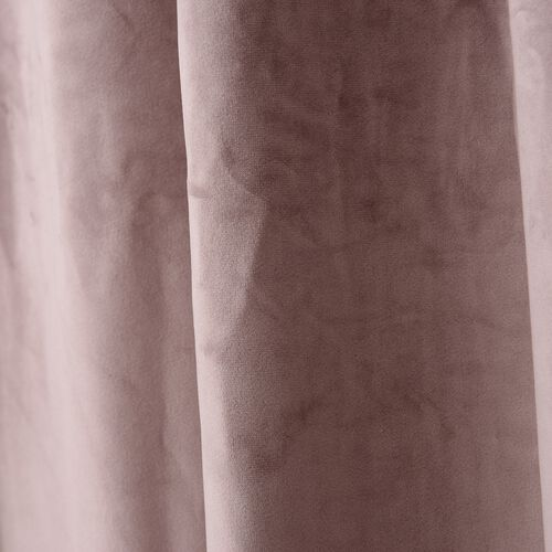 Luxury Edition - Extremely Soft Short Pile Panel Curtain with Hidden Loops in Dusky Rose Colour (Size in Cm 230 Drop x140 Width)