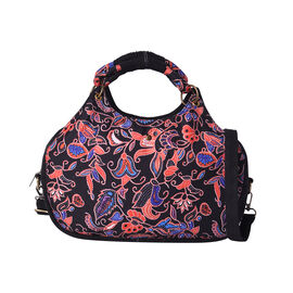Ethnic Bag Collection - Floral Embroidery Pattern Tote Bag (35x9x25cm) with Handle and Shoulder Stra