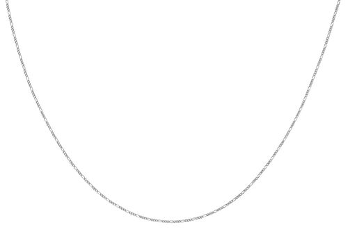 Sterling Silver Figaro Chain (Size 20), Silver wt 3.55 Gms