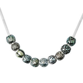 Galatea Pearl - Tahiti Pearl Queen Bead Necklace (Size 18) with lock in Sterling Silver