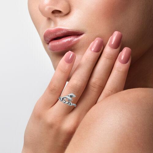 Designer Inspired- Sterling Silver Dolphin Ring