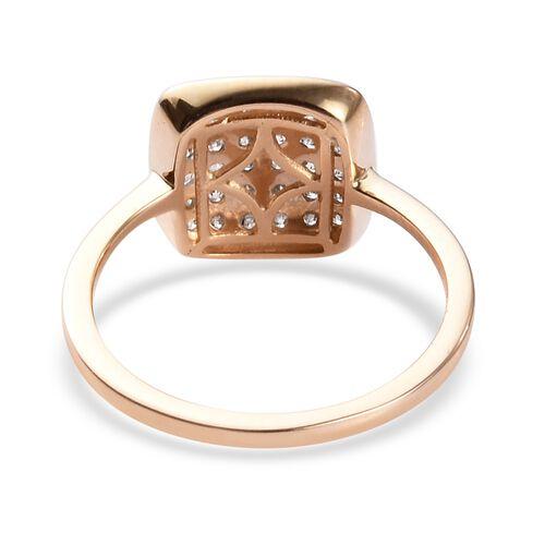 9K Yellow Gold SGL Certified Diamond (I3/G-H) Ring 0.5 Ct.