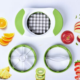 Cutter and Fruit Slicer (Size:18.6x12x2.5Cm) - White & Green