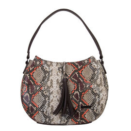 Bulaggi Collection- Snake Hobo Shoulder Bag (Size 35x26x10 Cm) - Rust